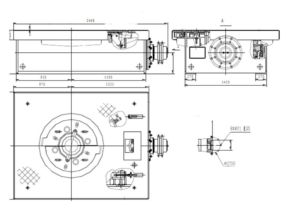 rotary table drawing