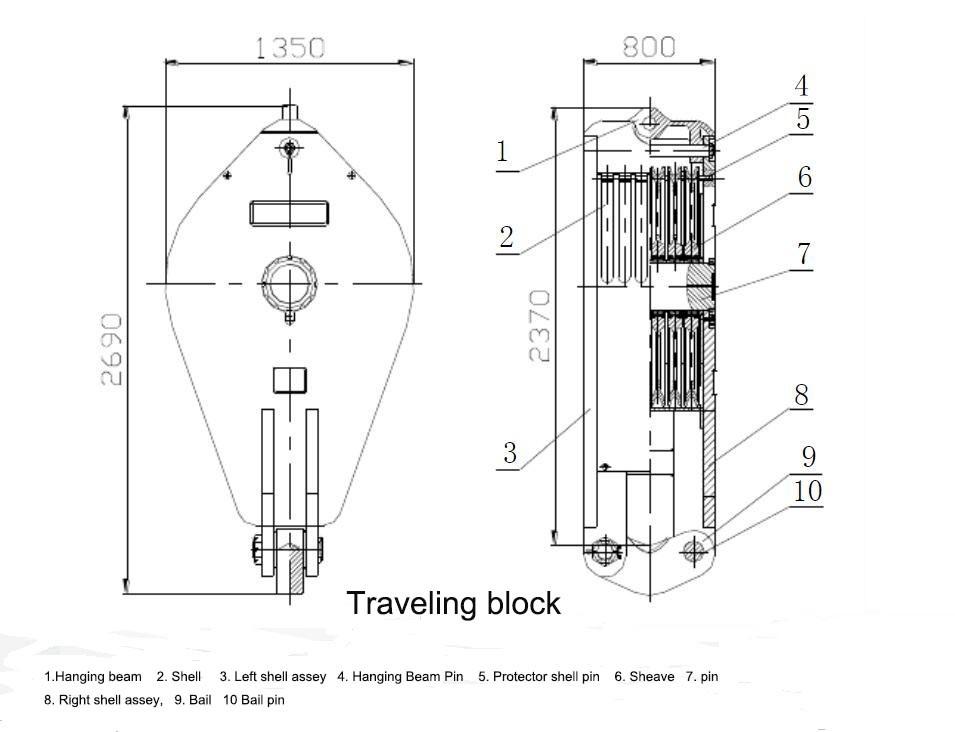 traveling block drawing
