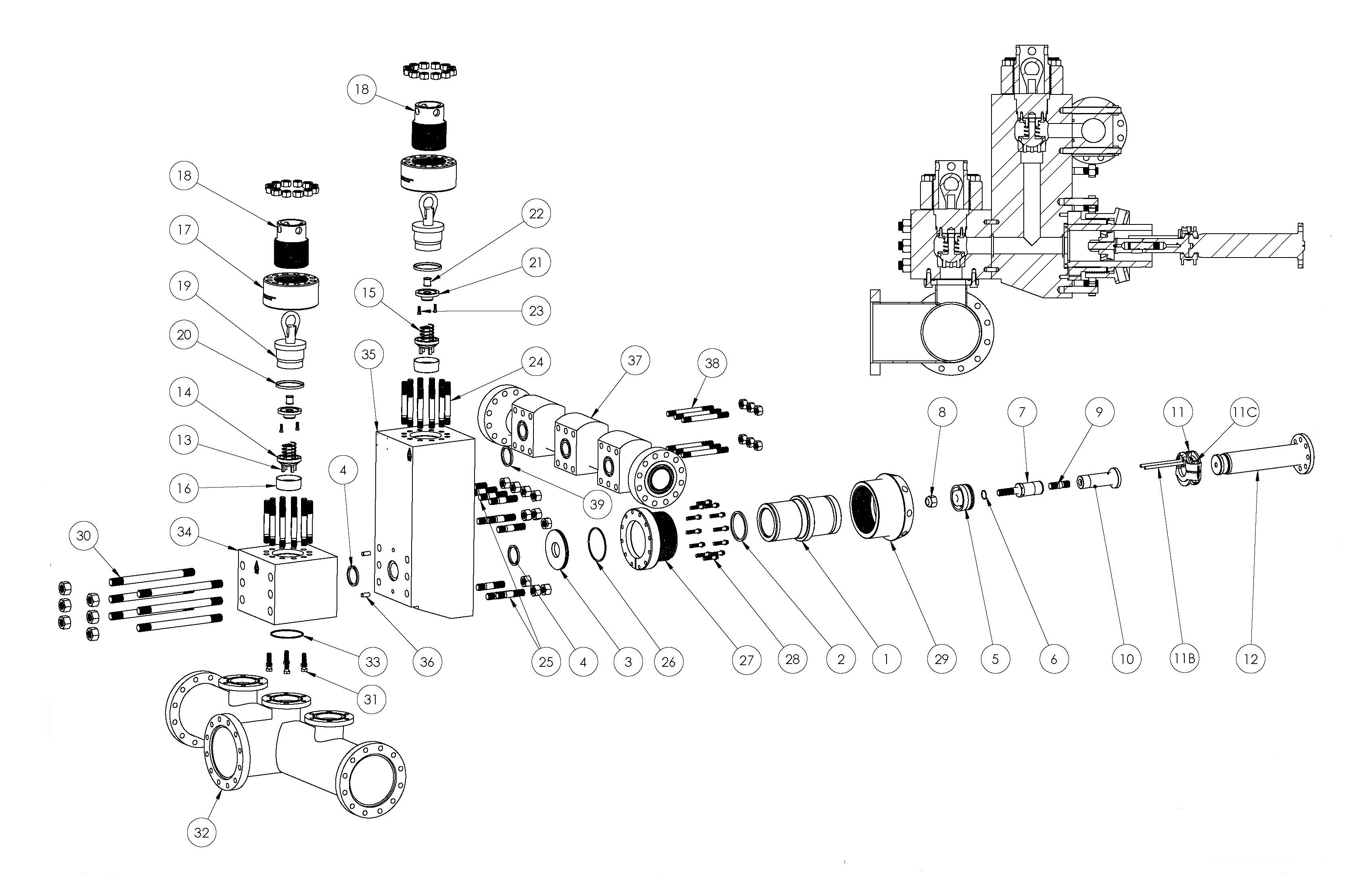 Mud Pump Spare Part Drawing