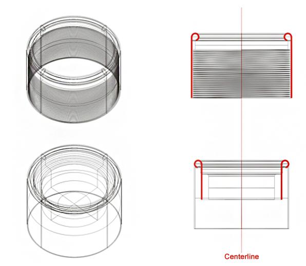 Thread Protector Drawing