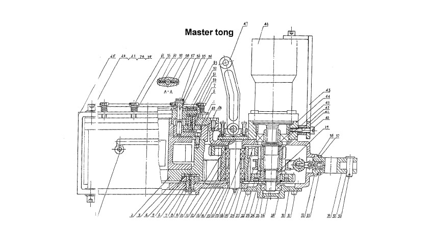 Tubing Power Tong Drawing